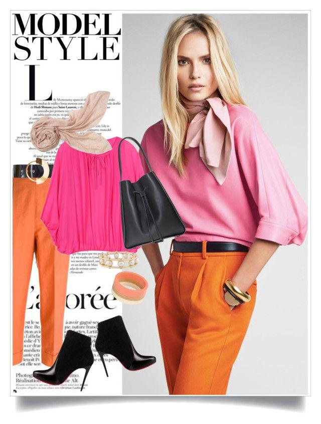"""Model Style"" by captainsilly ❤ liked on Polyvore featuring Romeo Gigli, Roksanda, Diane Von Furstenberg, Christian Louboutin, Stella & Dot, Marni and Lele Sadoughi"