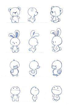 bear, bunny, duck, frog