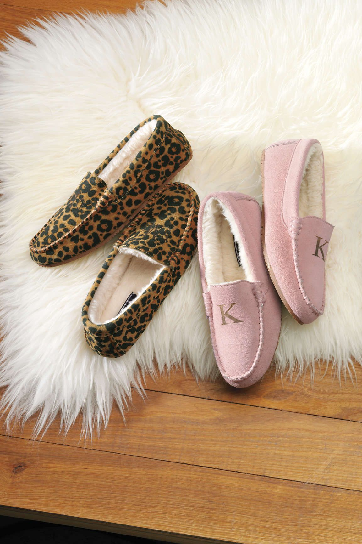 Women's Suede Moccasin Slippers from