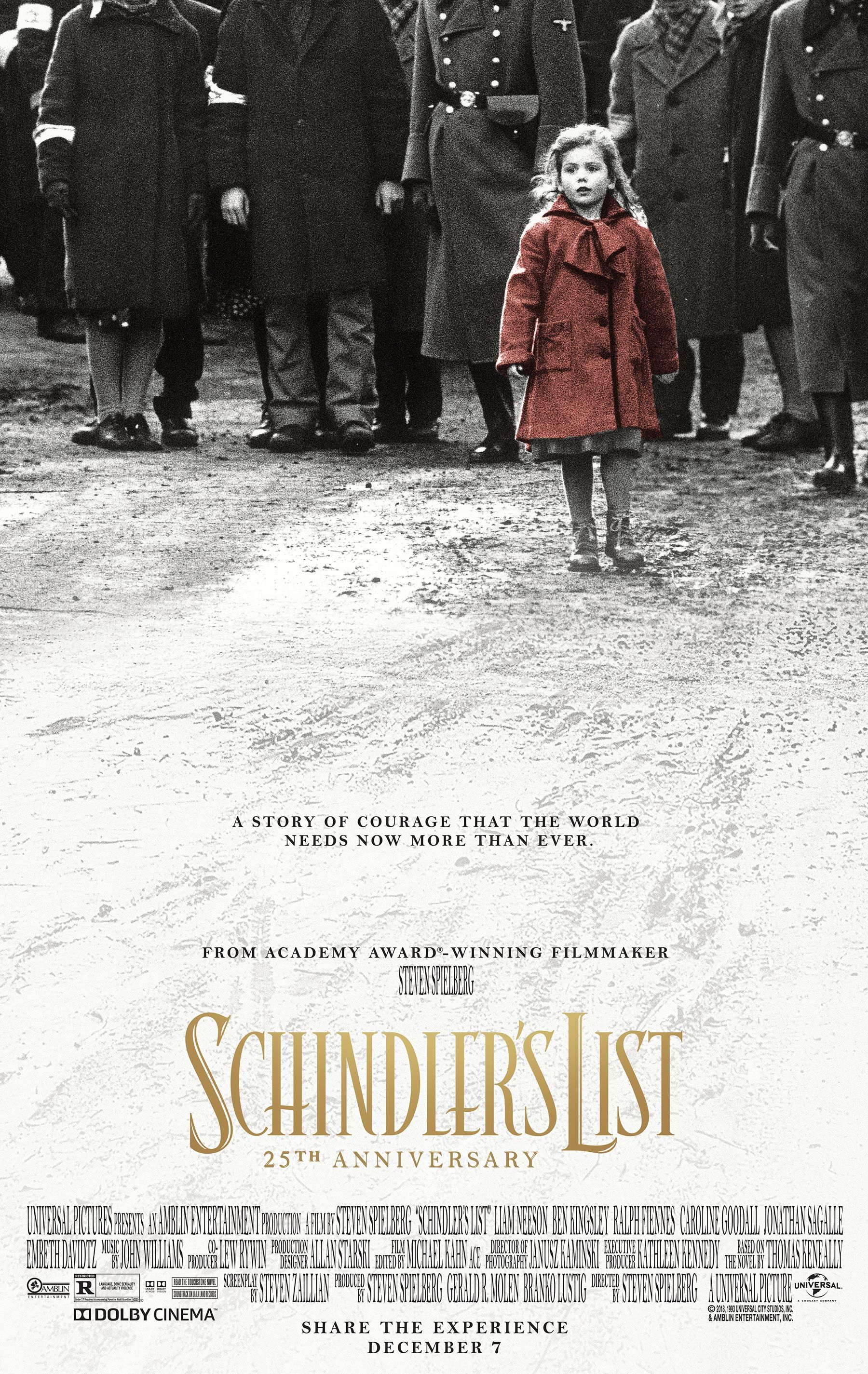 'Schindler's List' will return to theaters for its 25th anniversary