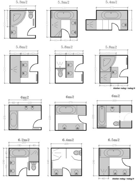 Amenager une petite salle de bain avec baignoire salle de bain petite surface 3 phenomenal for Plan pour amenager une petite salle de bain