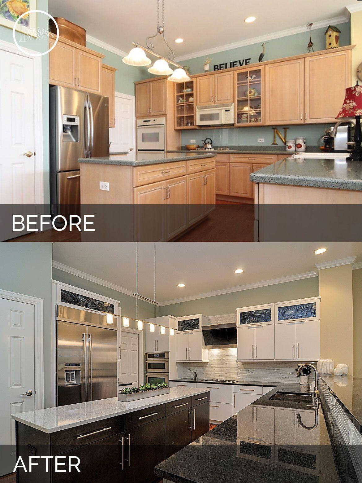 Doug & Natalie's Kitchen Before & After Pictures #homestagingavantapres