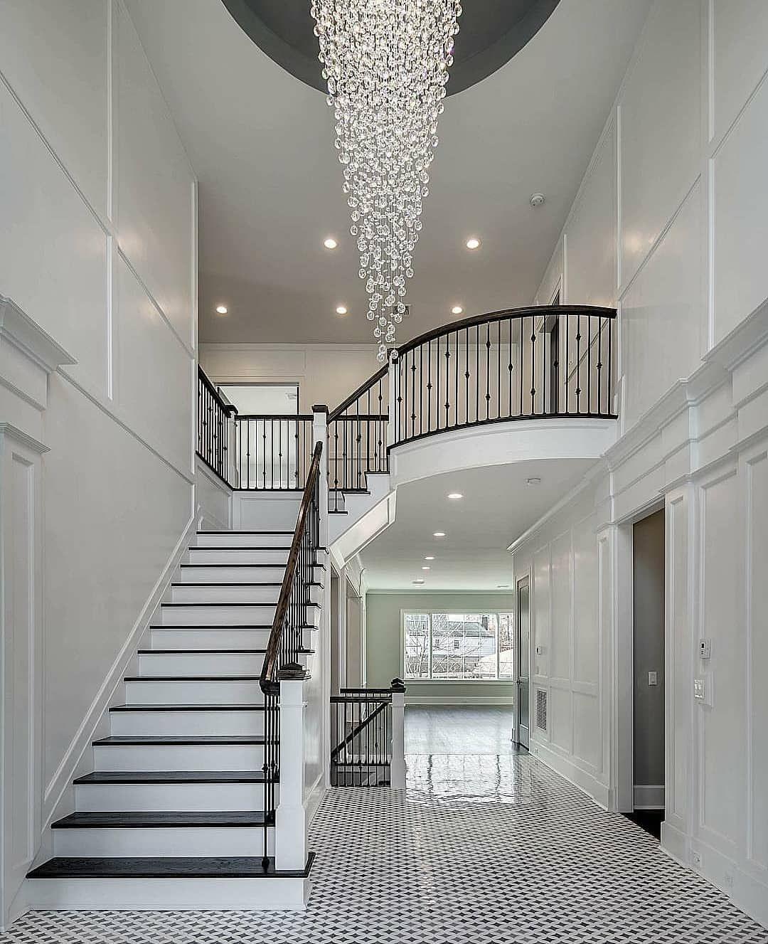 Gorgeous Foyer Staircase By Ariellahorowitzdesigngroup Foyer