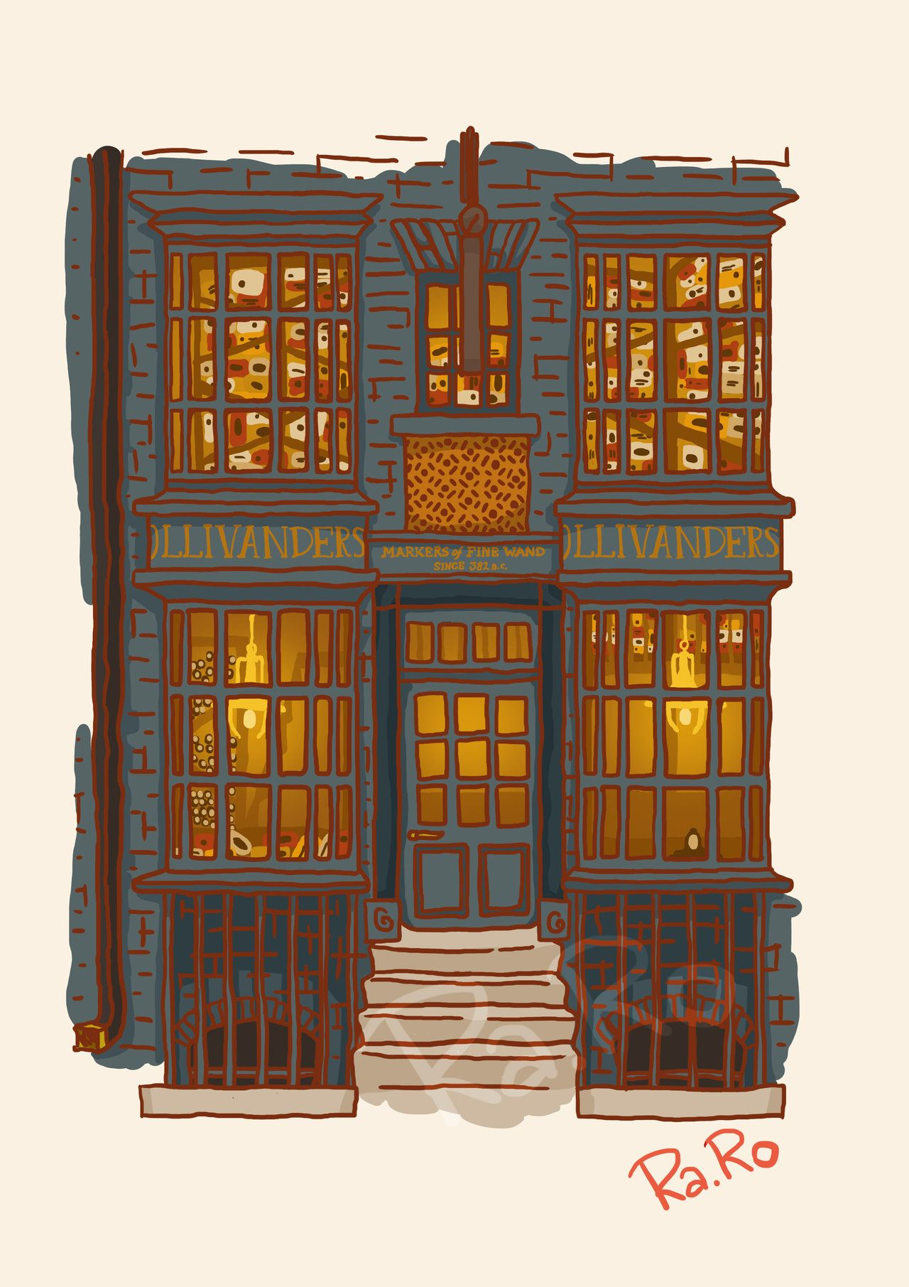 Diagon Alley: Ollivander Shop by RaRo81.deviantart.com on @DeviantArt