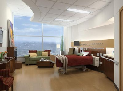 Nice open room with big windows and visual interest with for Hospital interior designs