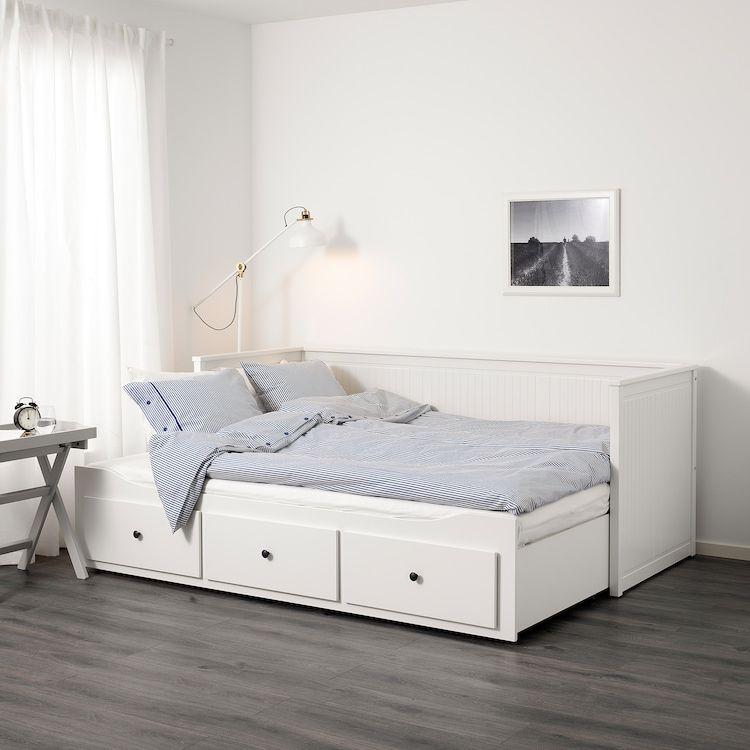 HEMNES Tagesbett/3 Schubladen/2 Matratzen