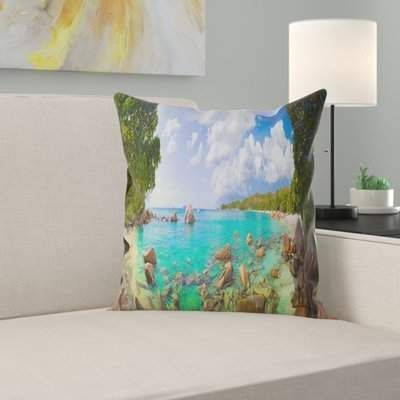 East Urban Home Landscape Photography Beach Anse Lazio at Seychelles Pillow,  East Urban Home Landscape Photography Beach Anse Lazio at Seychelles Pillow,