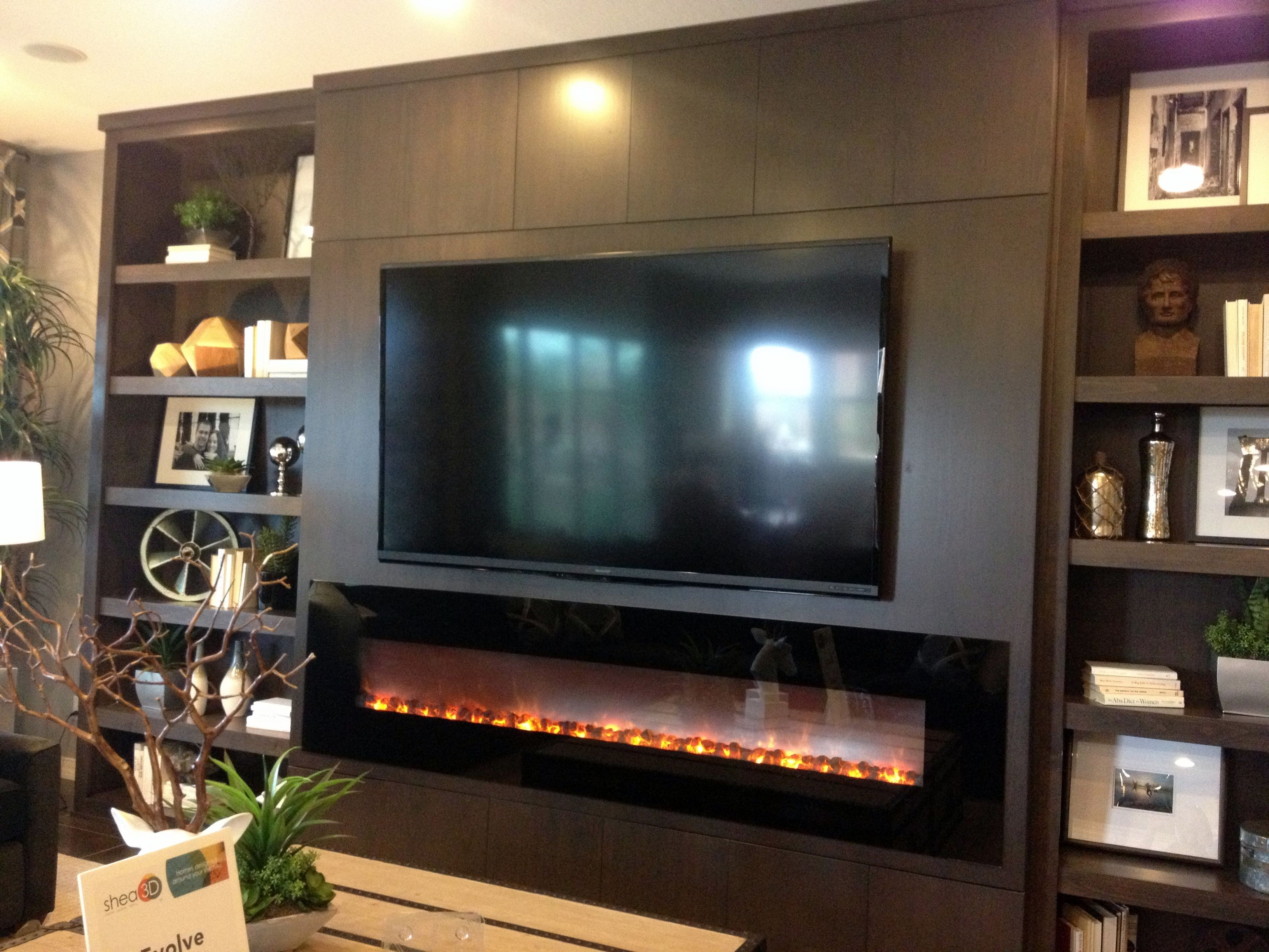 Modern Entertainment wall with fireplace | Stonehouse in ...