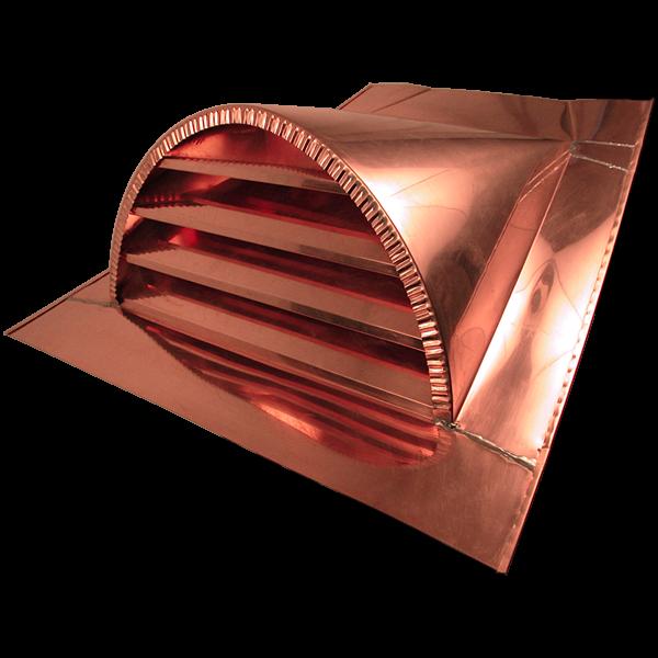 24 Half Round Copper Dormer Vent Dormers Metal Roof Vents Dormer Vent
