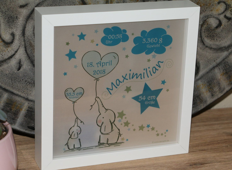 Personalisiertes Nachtlicht Zur Geburt Elefanten In Blau Traumhafte Led Lampe Geschenke Zur Geburt Kinder Lampen Personalisierte Geschenke