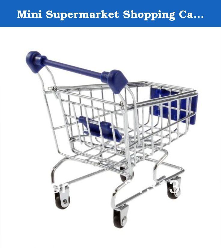 Mini Supermarket Shopping Cart Trolley Phone Holder - Blue. Mini Supermarket Shopping Cart Trolley Phone Holder - Blue.