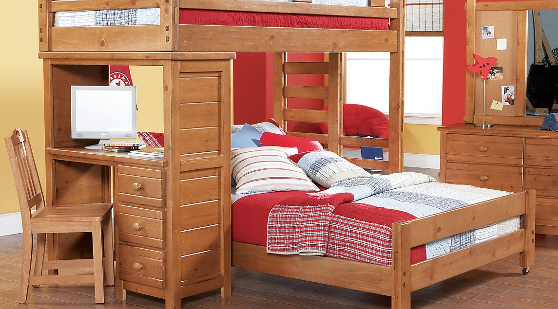 Creekside Taffy Twin Full Student Loft Bed With Desk Bunk Bed