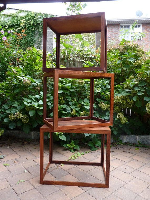 Rosewood nesting tables.
