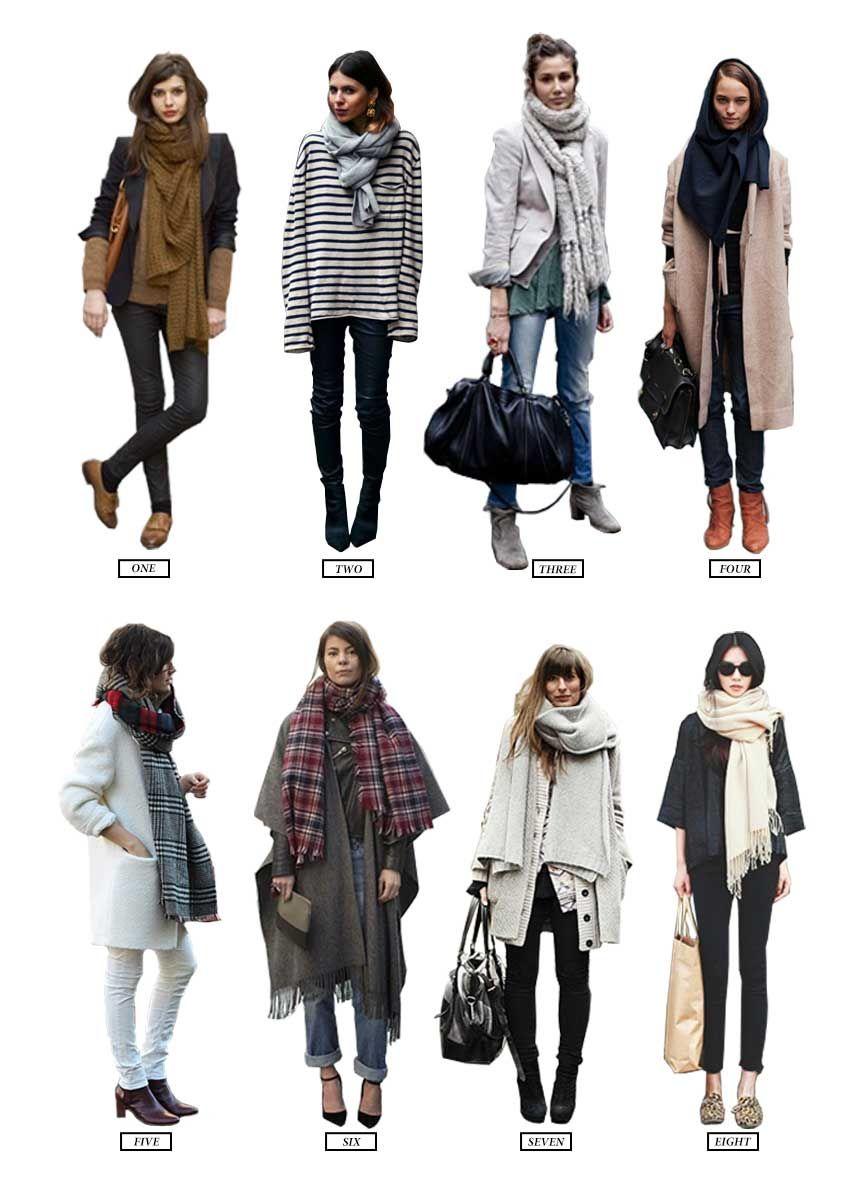 8 ways to wear your scarf via WitandDelight 176ec3e98e5