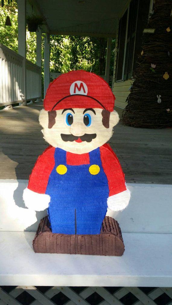 Super Mario Bross Piñata Party Games Boys Girls Smash Birthday Children