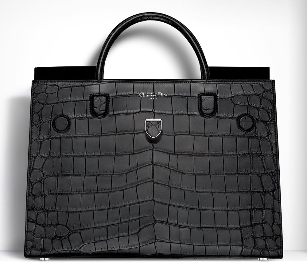 Christian Dior Diorever Alligatore Tote Blue  4df6666ff6eb0