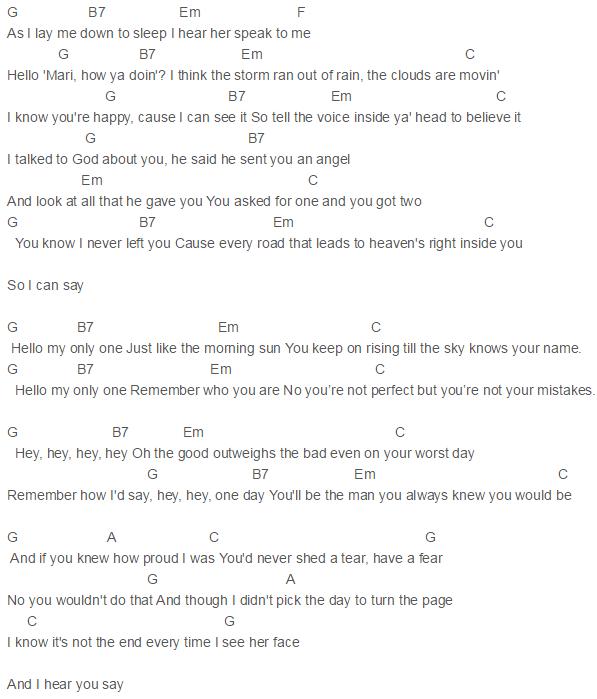 Only One Chords Kanye West Paul Mccartney Kanye West Pinterest