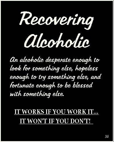 sobriety quotes | Definition of a Recovering Alcoholic | Sober InspirationsSober ...
