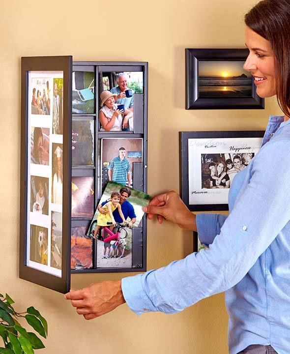 collage frame easy change collage photo frame safely stores up to 168 photos - Easy Change Artwork Frames
