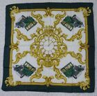 D92 Huis Ten Bosch Classic Car Green Ivory Gold Silk Scarf Scarves 34.5″ x 34.5″…
