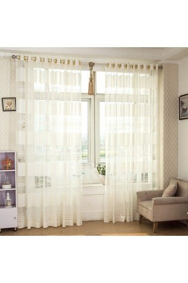 Modern Solid Color Striped Sheer Curtain For Living Room The Bedroom Window Tulle Kitchen Voile Treatments Check Out Image By