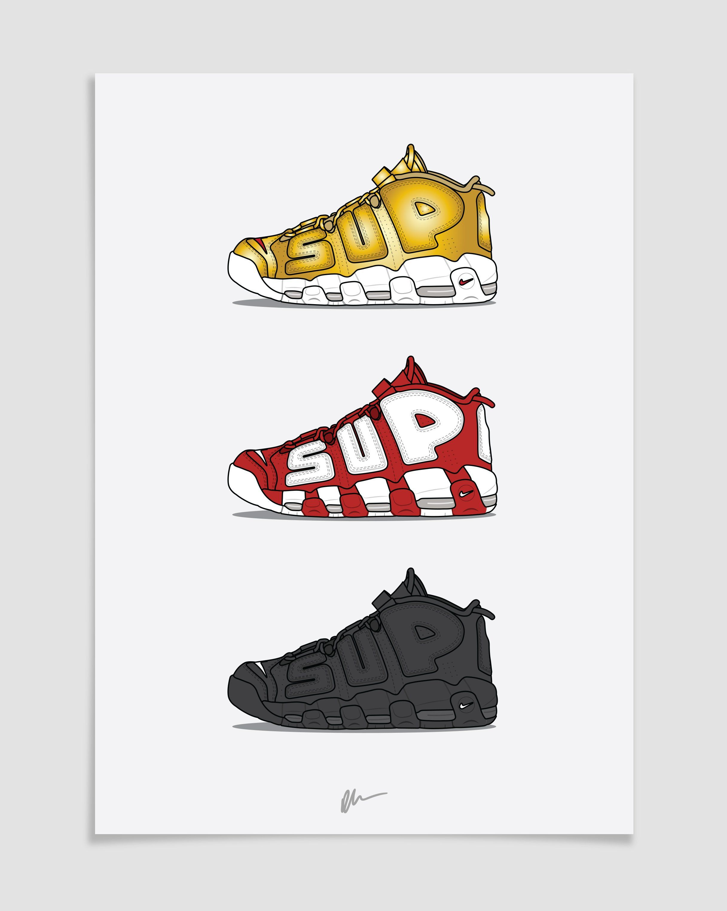 80727b20676b Originally created sneaker illustration.The ideal for the home or ...