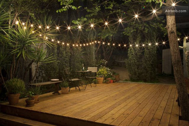 outdoor area in evening small