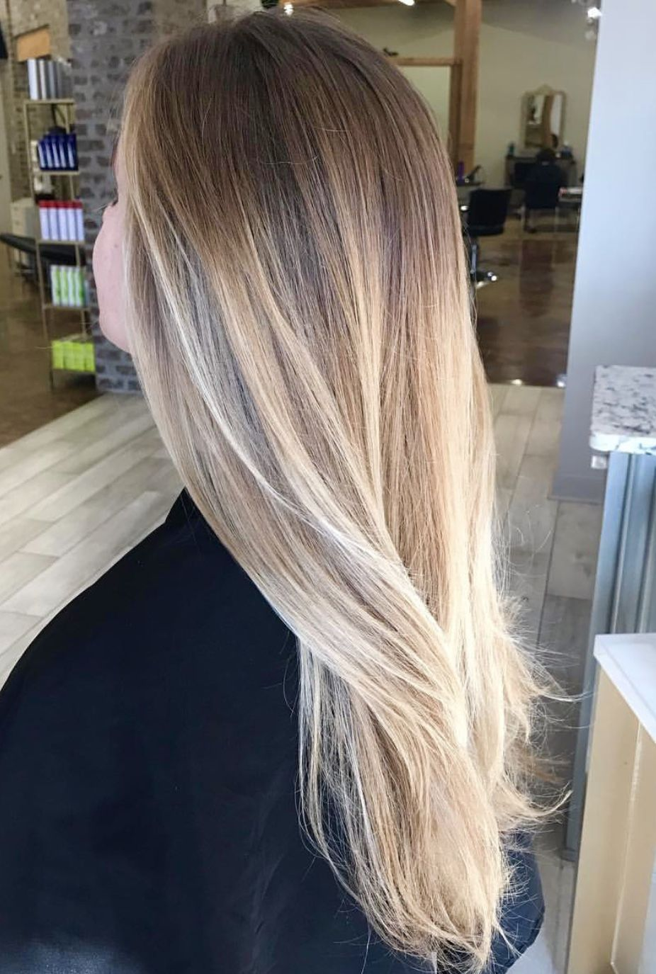 White Golden Blonde Balayage Straight Blonde Hair Balayage Straight Hair Brown Blonde Hair