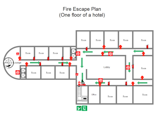 Fire Escape And Diagram