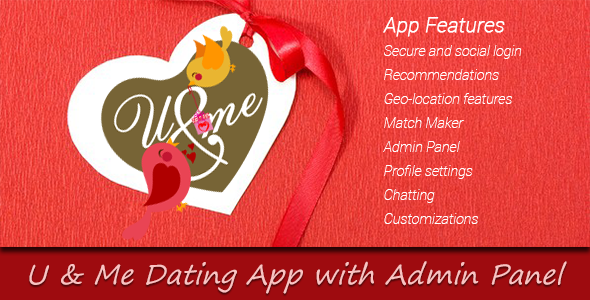 You and Me Dating App with Admin Panel | Code Script | Admin