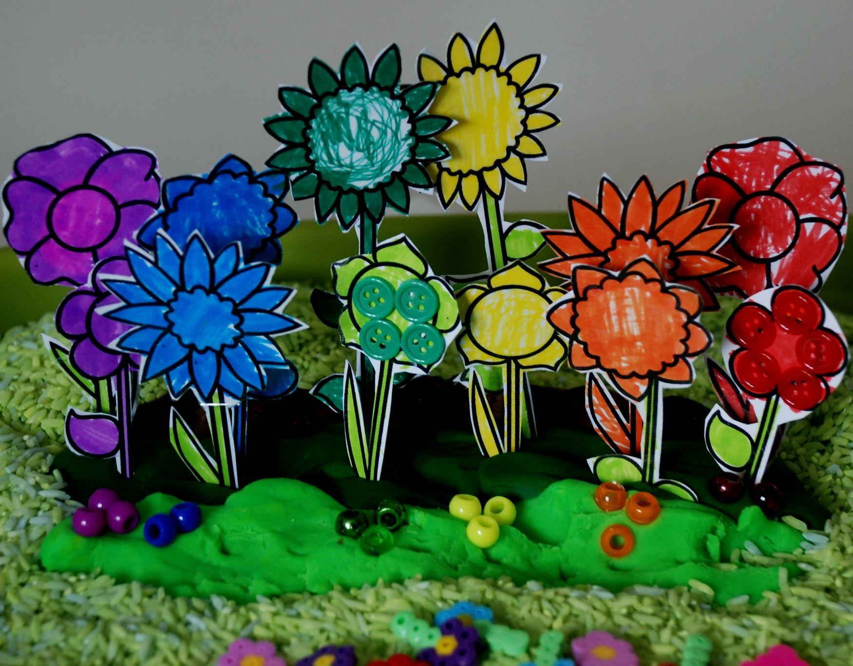 Planting A Rainbow Planting A Rainbow Rainbow Playdough Flower