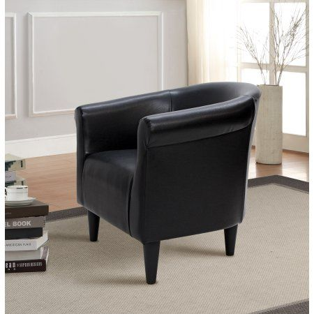 Mainstays Faux Leather Bucket Accent Chair Multiple Colors Walmart Com Accent Chairs Faux Leather Chair Leather Bucket