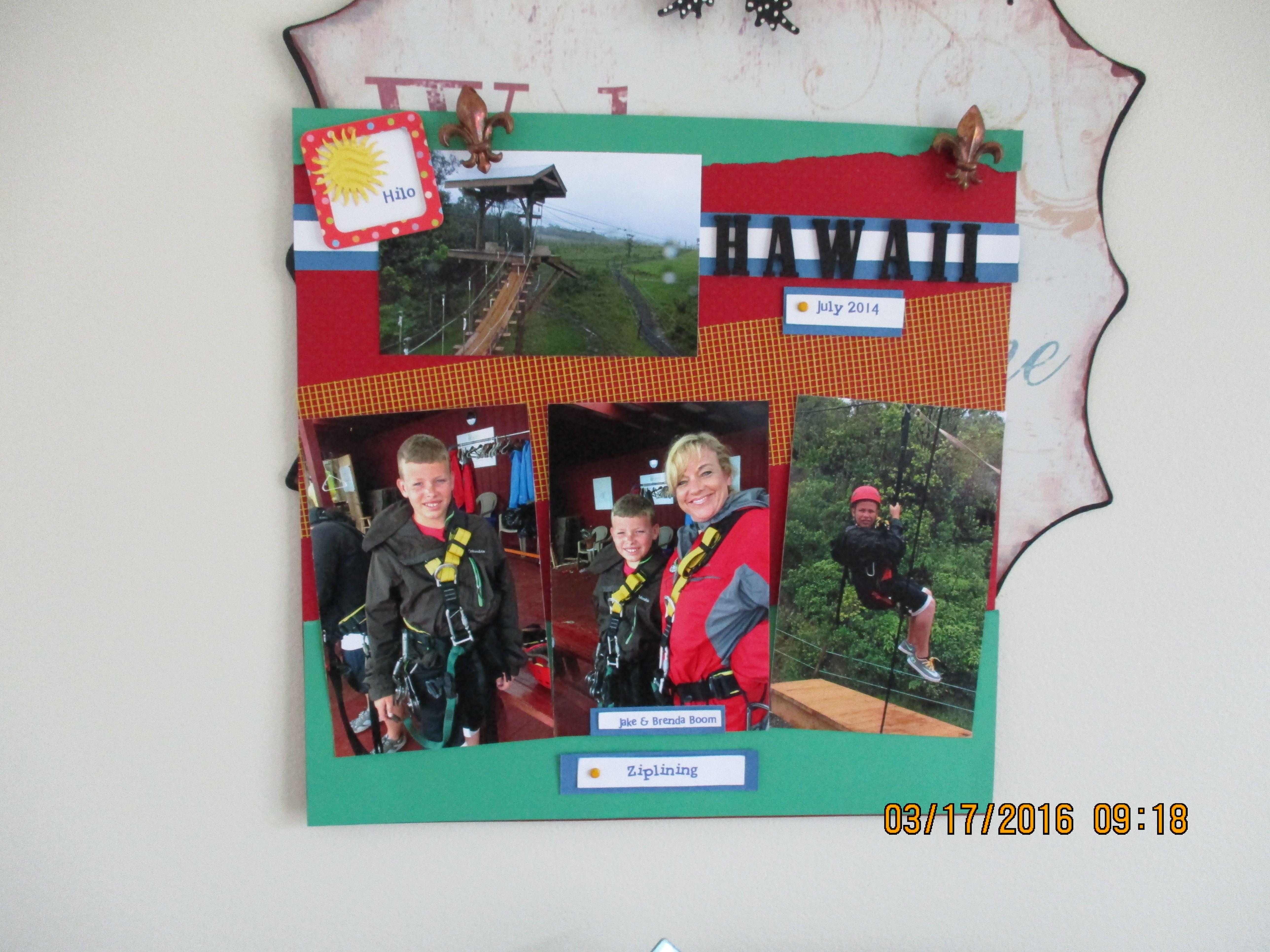 Ziplining scrapbook ideas - Hawaii Ziplining Page1