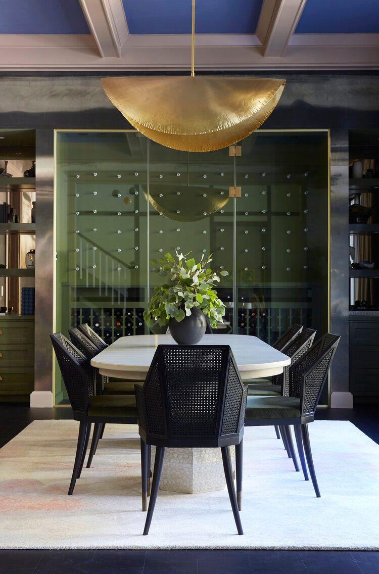 Bel Air Contemporary Black Lacquer Design Built In Dining Room Dining Room Interiors Modern Dining Room
