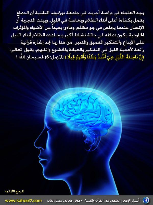 صورة وآية ناشئة الليل Islam And Science Quran Islam
