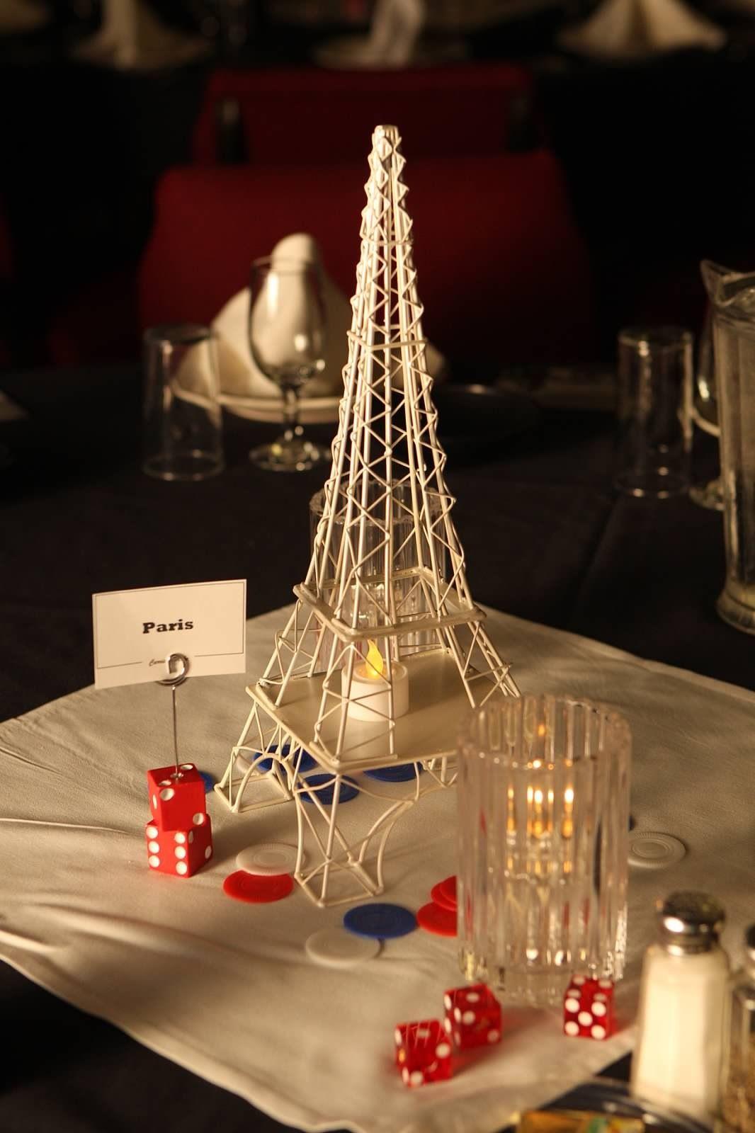 Paris las vegas centerpiece hope love ball ideas