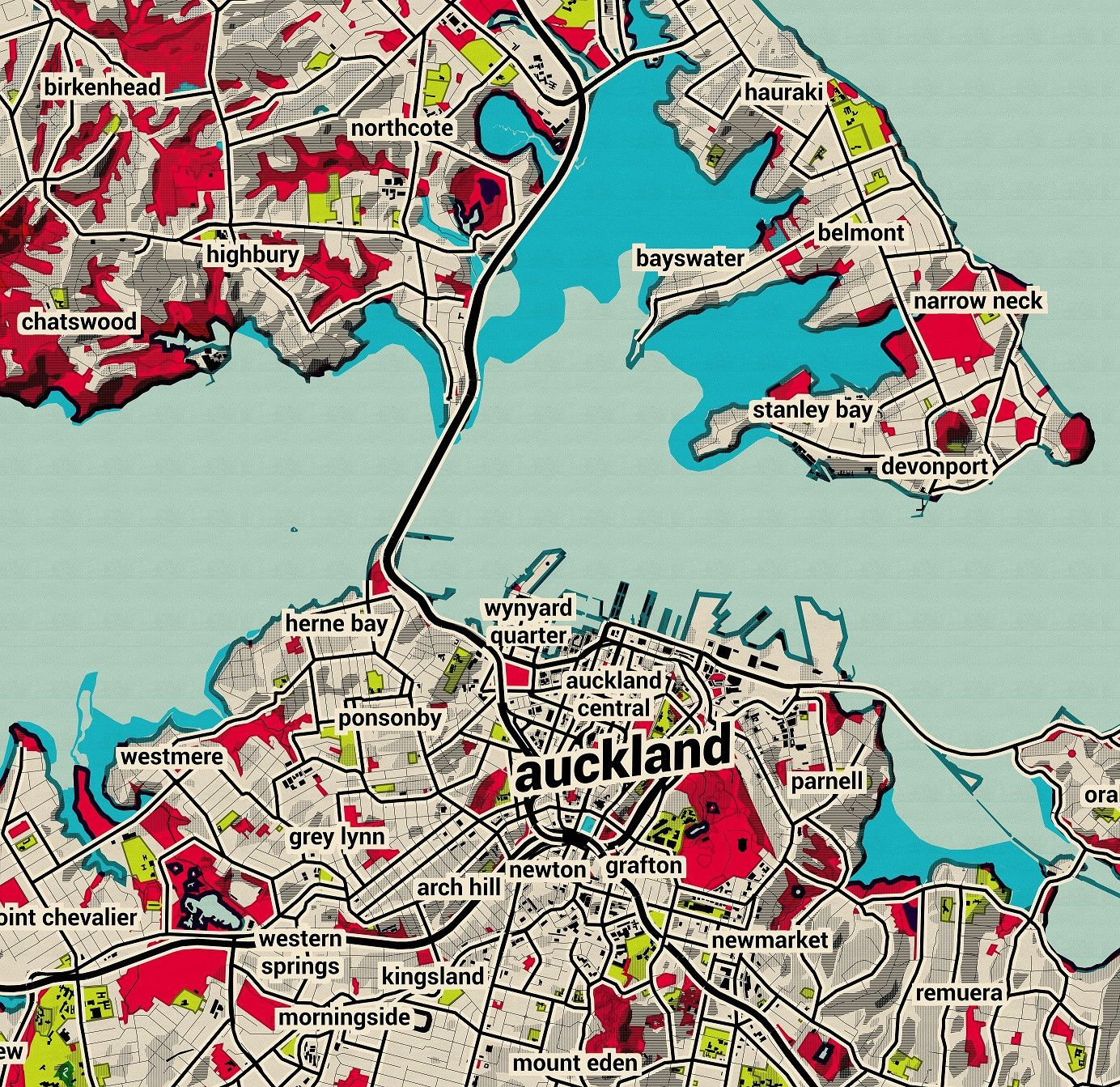 Map Of Auckland New Zealand.Auckland City Map Many Colours Wallpaper Map Wallpaper New