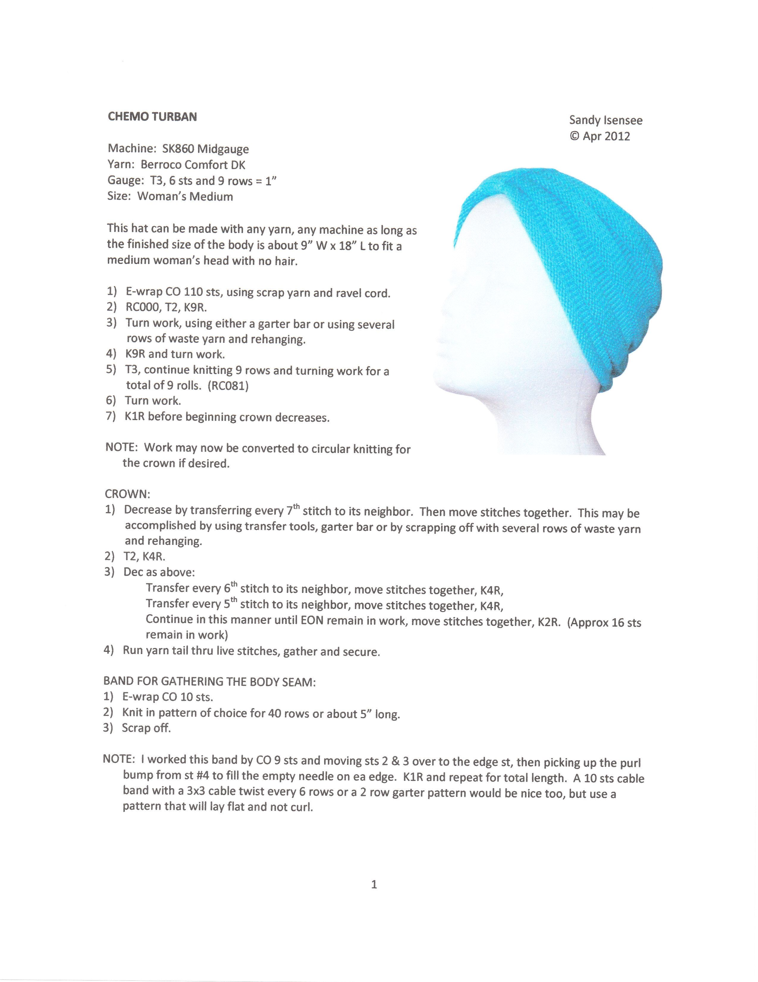 Chemo turban Pattern | Sewing, Quilting, Needlecrafting | Pinterest ...