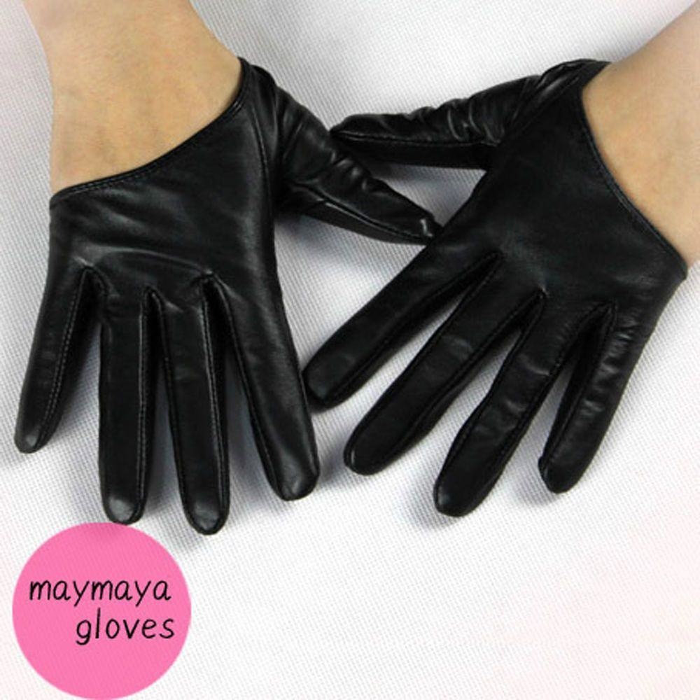 Red leather driving gloves womens - Details About May Maya Women S Black Half Palm Premium Leather Driving Gloves