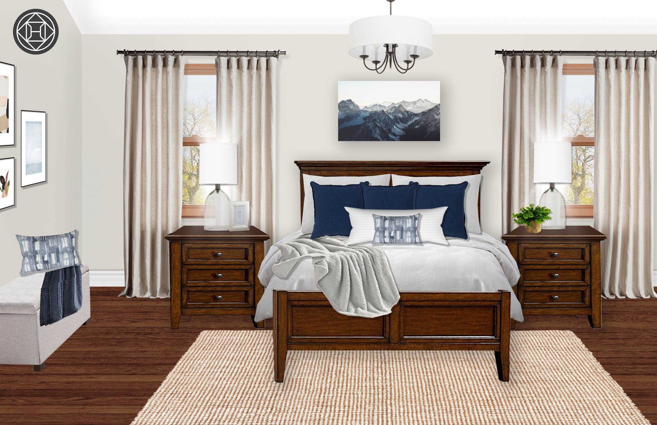 Farmhouse Scandinavian Bedroom Design By Havenly Interior