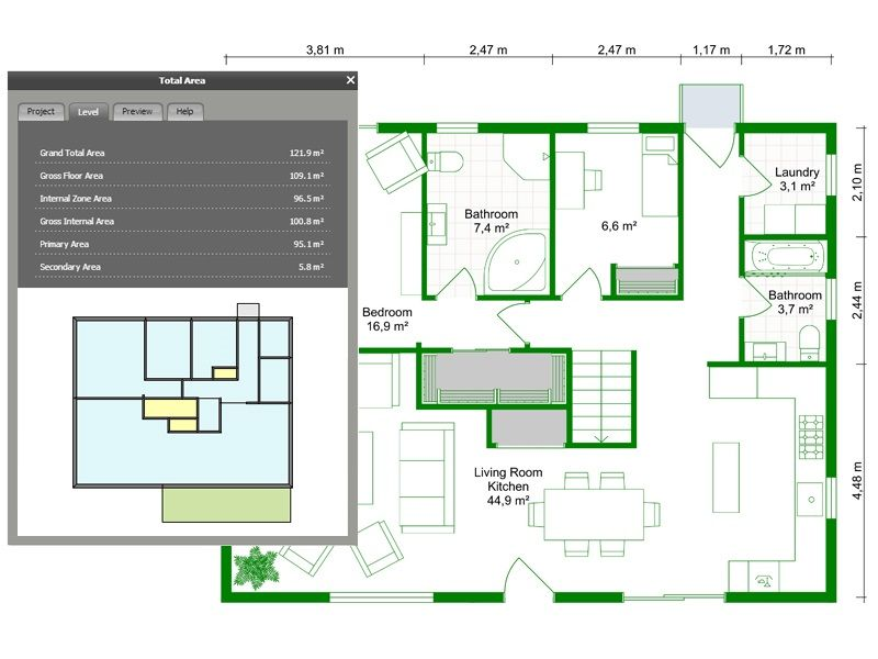 Powerful Floor Plan Area Calculator Floor Plans Home Appraisal