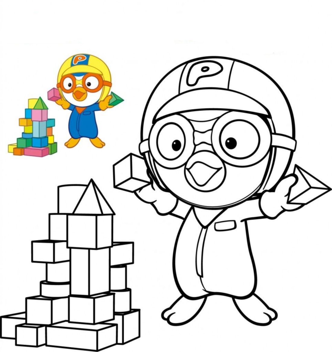 Download Pororo Coloring Pages