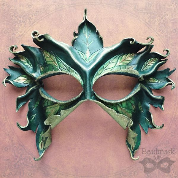 Sculpted Leather Mask - Lady Of The Leaves