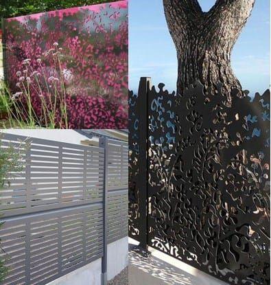 achat palissades en bois panneaux aluminium d coratifs d cou s au laser crans massifs. Black Bedroom Furniture Sets. Home Design Ideas