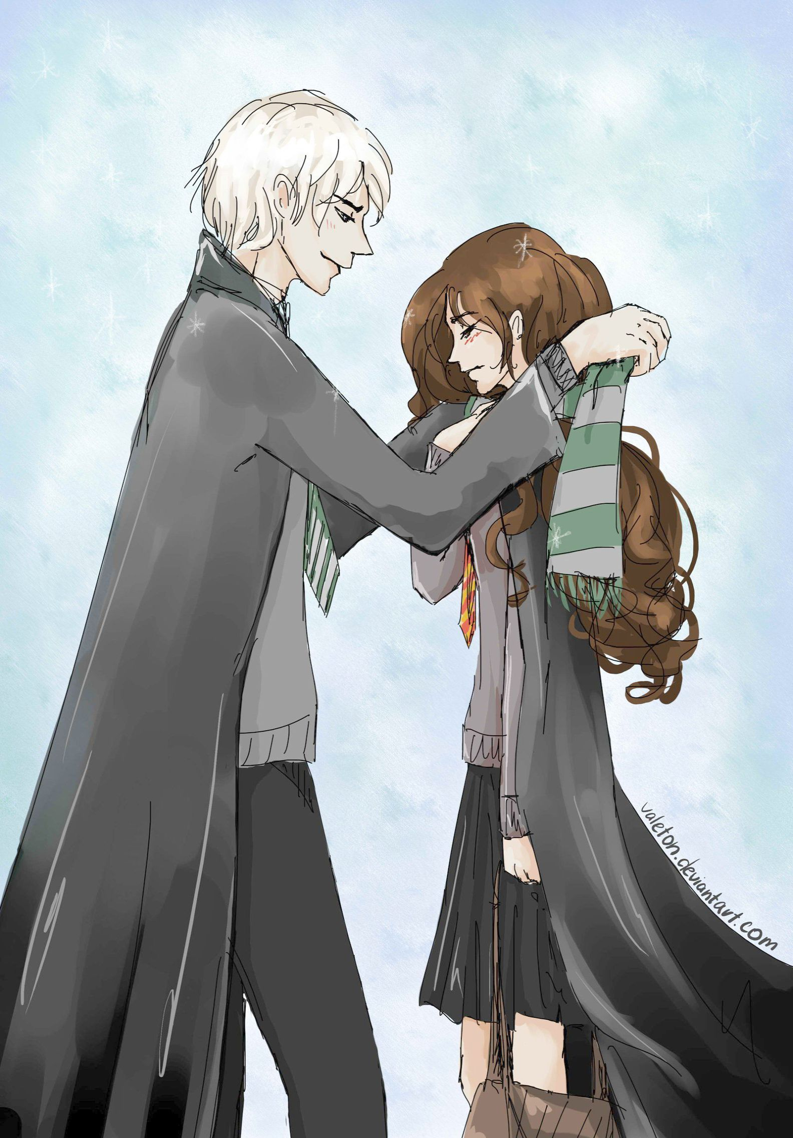 Harry Potter Movies Total Time Without Harry Potter Spells Most Powerful It Is Harry Potter Movies Under Harry Pot Dramione Dramione Fan Art Harry Potter Anime