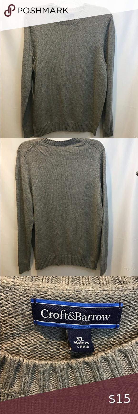 Croft Barrow Gray Pullover Sweater Xl Croft Barrow Men S Gray Chunk Knitted Pullover Sweater Size Xl Grey Pullover Grey Pullover Sweater Pullover Sweaters [ 1740 x 580 Pixel ]