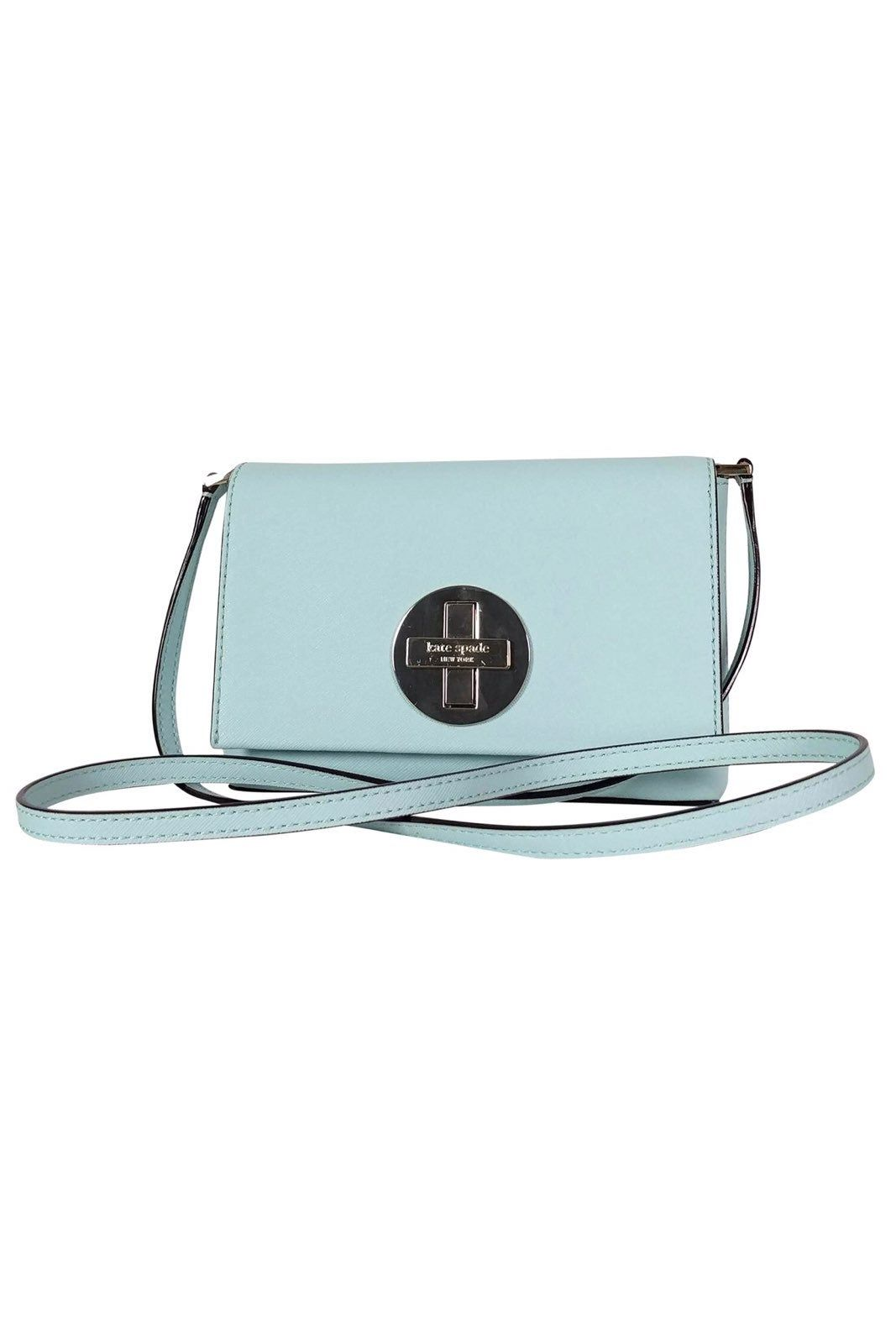 Kate spade small mint blue leather crossbody leather