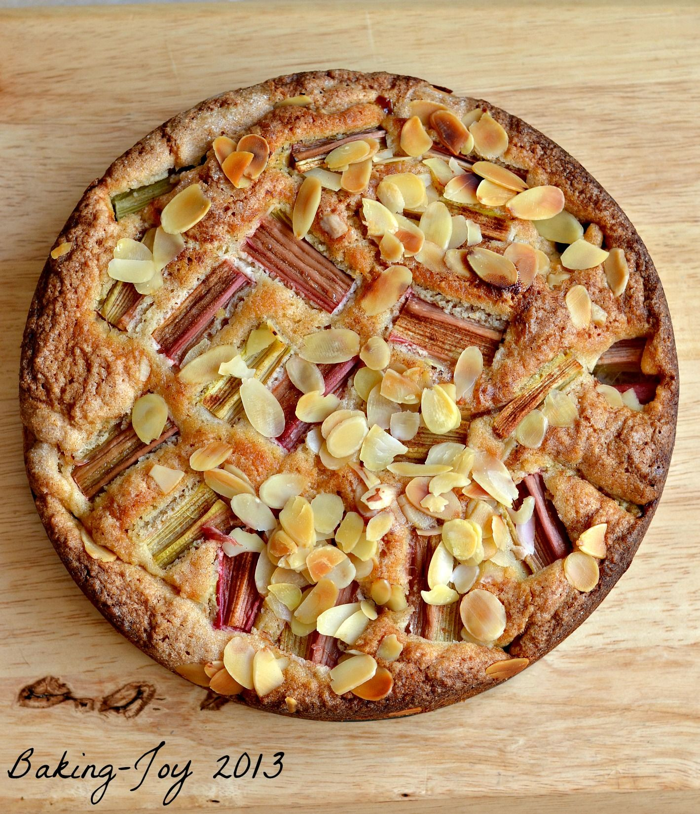 Rhubarb Almond And Cinnamon Cake Http Baking Joy Com