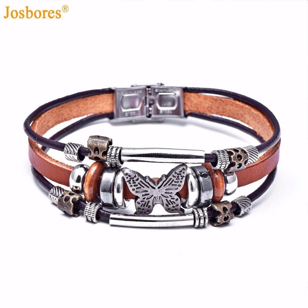 Handmade butterfly design bracelet free shipping worldwide and