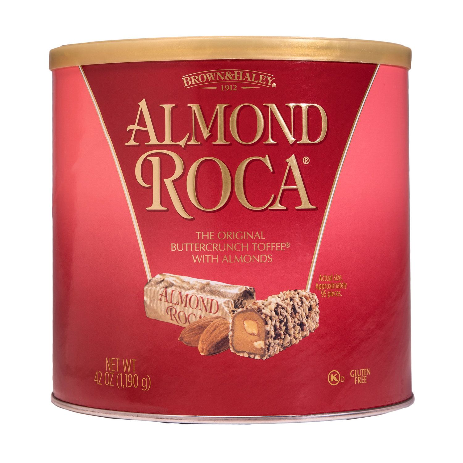 42 Oz Almond Roca Canister Brown Haley Almond Roca In 2020 Buttercrunch Toffee Almond Roca Jelly Bean Flavors